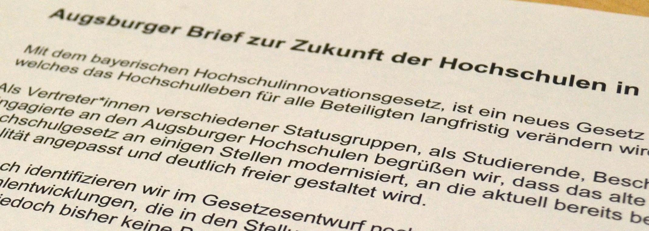 Augsburger Brief zur Hochschulreform